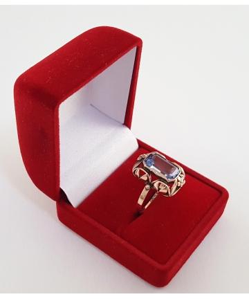 Złoty pierścionek Art deco z lat 30-tych XX wieku - próba 333