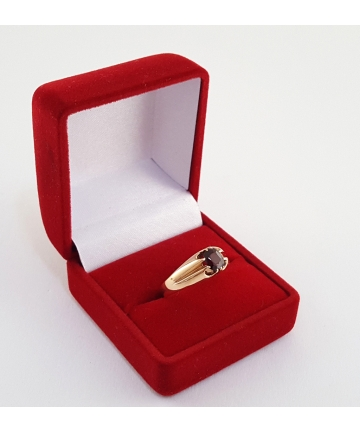 Złoty pierścionek zdobiony...