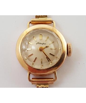 Rosyjski zegarek Haupu koperta oraz bransoleta wykonana ze złota