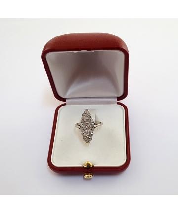 Złoty pierścionek Art Deco z diamentami