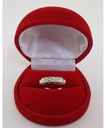Złoty pierścionek Art deco z diamentami 0,55 ct