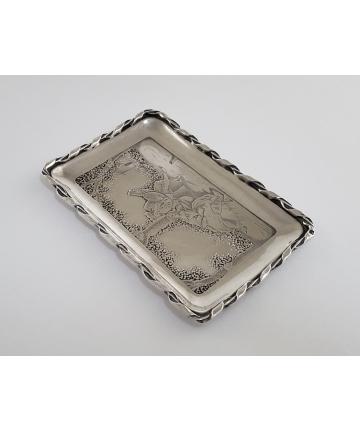 Paryski srebrny wizytownik z XIX wieku - próba 1