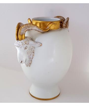 Waza porcelanowa złocona z...