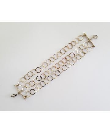 Srebrna bransoleta w stylu ORNO