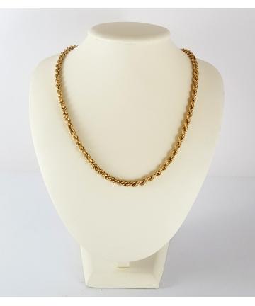 Złoty łańcuszek w splocie kordel, długość 61,5 cm