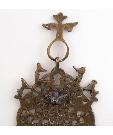 Lampa chanukowa wykonana z brązu w XIX wieku
