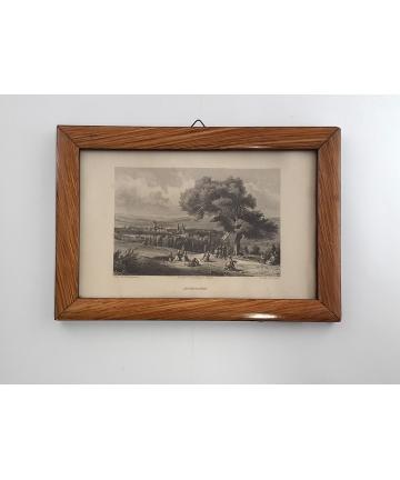 Drzeworyt w ramie z XIX...