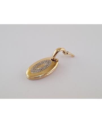 Złoty sekretnik (próba 585) zdobiony 46 brylantami 0,35 ct