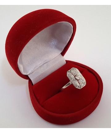 Złoty pierścionek Art deco...