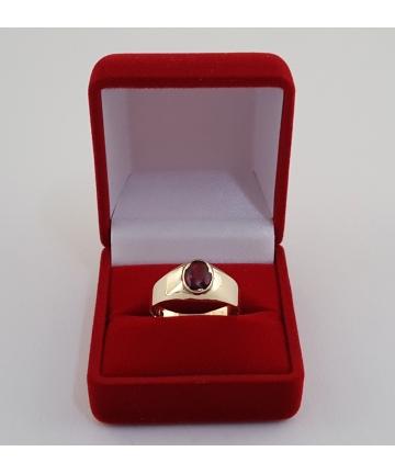 Złoty pierścionek - sygnet w stylu Art deco, próba 333, rozmiar 19
