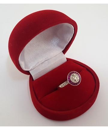 Platynowy pierścionek Art...