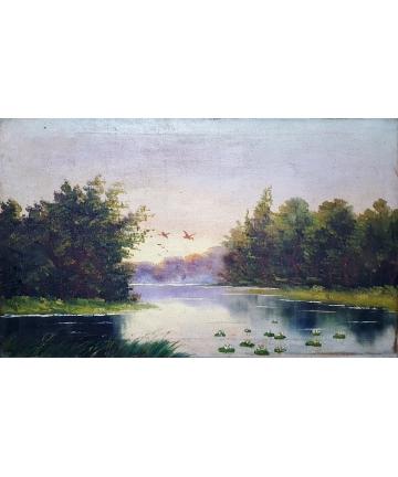 Sygnowany obraz olejny - Dulski z około 1900 roku