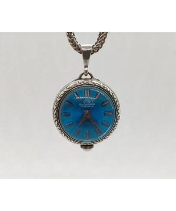 Srebrny medalion z zegarkiem Bucherer