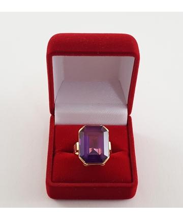 Złoty pierścionek z lat 50-tych XX wieku, rozmiar 11