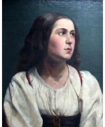 Obraz olejny w ramie - Ukrainka - Wojciech Gerson 1886 rok