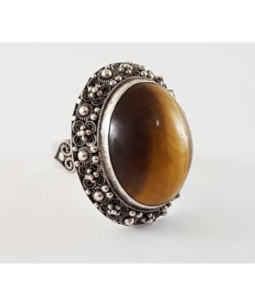 Srebrny pierścień zdobiony...