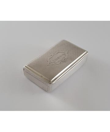 Srebrny pojemnik z przełomu XVIII / XIX wieku