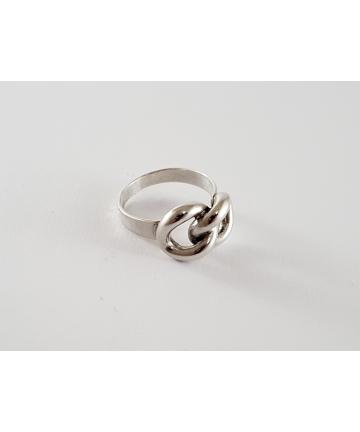 Srebrny pierścionek, sygnowany ORNO z lat 70-tych XX wieku, rozmiar 19