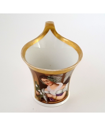 Porcelanowa filiżanka, sygnowana KPM z lat 20/30 XX wieku