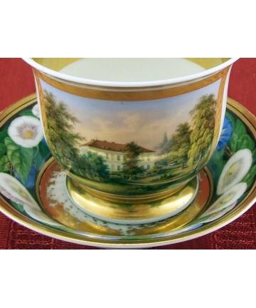 Porcelanowa filiżanka z podstawką - KPM z lat 1850/60 - Berlin