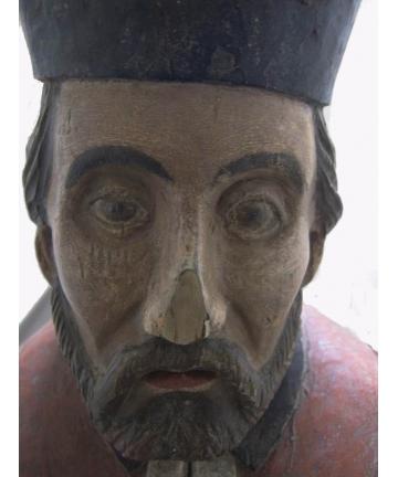 Rzeźba św. Nepomucena z ok. 1800 roku – Śląsk Cieszyński