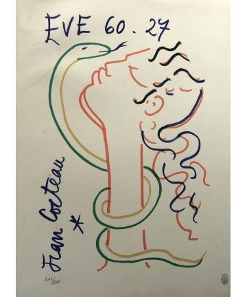 Litografia barwna na papierze - Jean Cocteau (1889/1963)