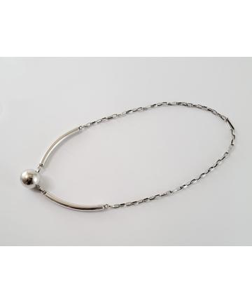 Srebrny naszyjnik - ORNO z lat 70-tych XX wieku