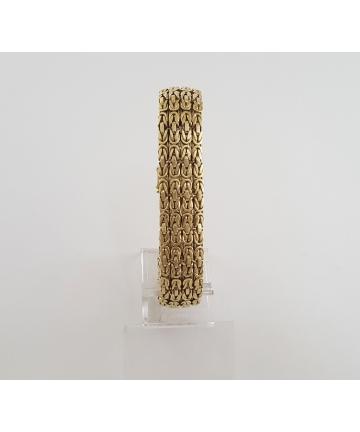 Złota bransoleta - próba 585 długość 19 cm