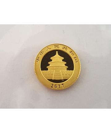Złota moneta 10 Yuan - Panda - 2017 rok