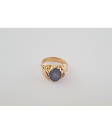 Złoty secesyjny pierścionek próby 3, rozmiar 12