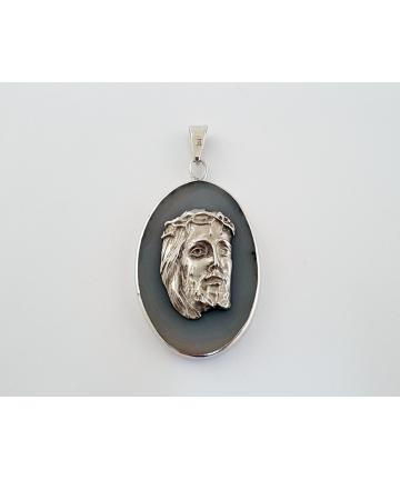 Srebrny medalion - Jezus...