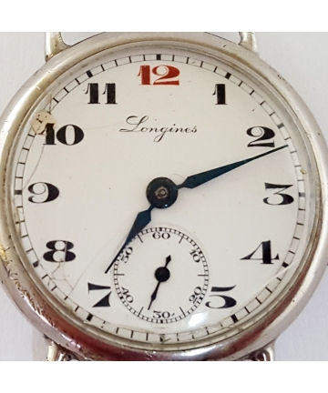 Srebrny zegarek marki LONGINES próby 875 / 84