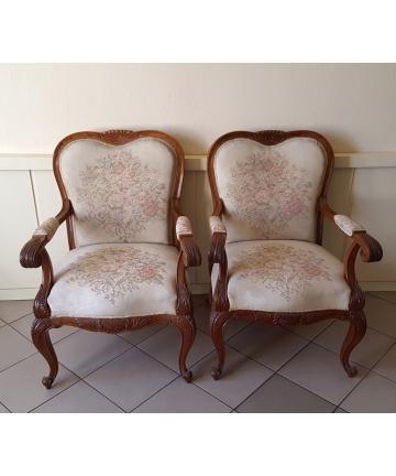 Dwa fotele w stylu Ludwika...