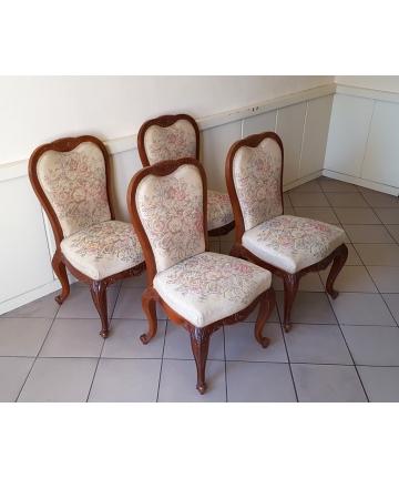 Cztery krzesła w stylu Ludwika Filipa z XIX wieku
