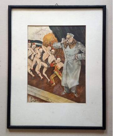Karykatura J. Piłsudskiego...