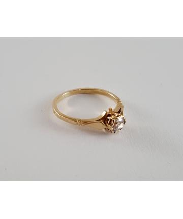 Złoty pierścionek Filia Warmet S8 z lat 80-tych XX wieku, rozmiar 9,5