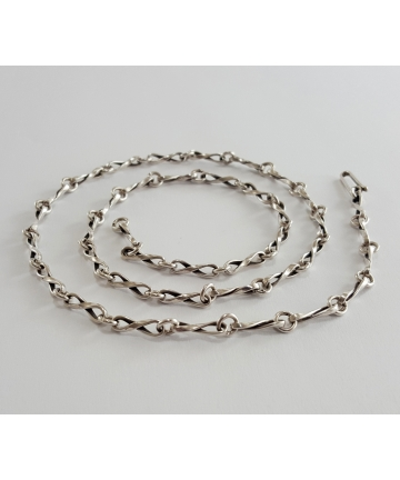 Srebrny łańcuch ORNO z lat 70-tych XX wieku, długość 61,5 cm