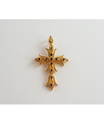 Złota zawieszka - Krzyż,...