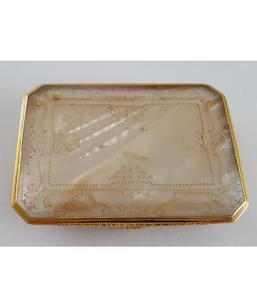Złote puzderko - wizytownik barokowy z I połowy XIX wieku