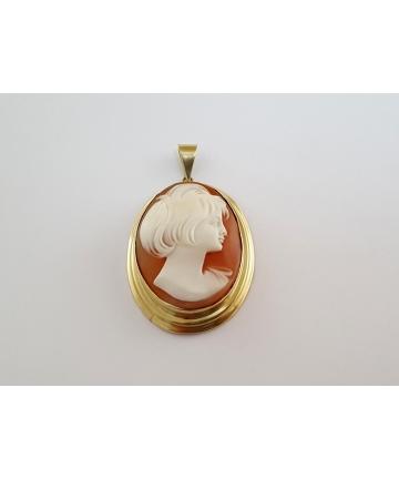 Złoty medalion Art Deco...
