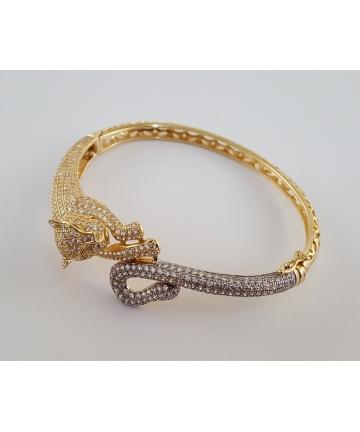 Bransoleta w stylu Cartier wykonana ze złota próby 750