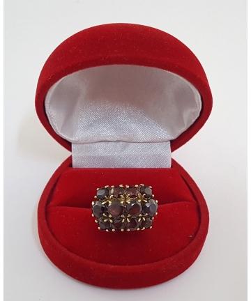 Wiedeński złoty pierścionek Art deco z lat 30- tych XX wieku