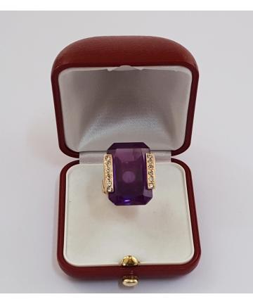 Złoty pierścionek w stylu TIFFANY z lat 60-tych XX wieku