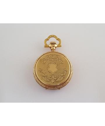 Złoty medalion z zegarkim ELGIN z około 1900 roku