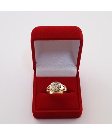Złoty pierścionek zdobiony diamentami WARMET z lat 60-tych XX wieku - UNIKAT