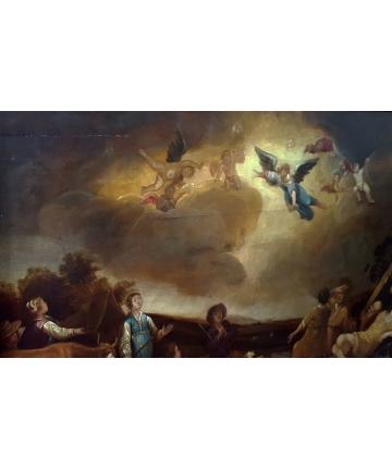 """Obraz """"Zwiastowanie pasterzom"""" sygnowany Smits, autor FRANS MARCUS SMITS"""