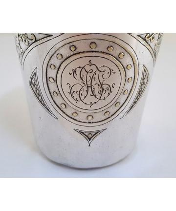 Secesyjna szklanica do wina z ok. 1900 roku - plater