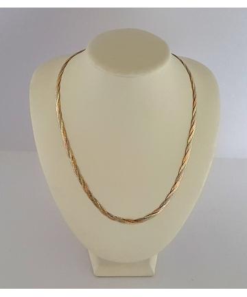 Złoty tójkolorowy naszyjnik - łańcuszek próba 585 długośc 51 cm